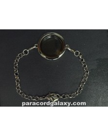 Floating Round Locket Bracelet Silver Tone