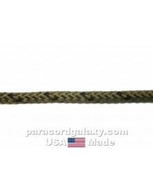 "3/16"" Synthetic Diamond Braid Rope, OD with Black, USA Made"