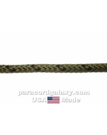3/16 inch polypropylene rope - OD with black - USA-made