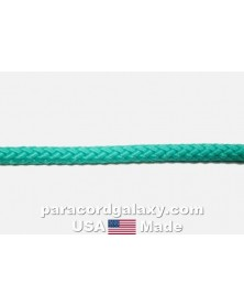 "3/16"" Synthetic Diamond Braid Rope, Teal, USA Made"
