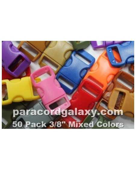 50 PACK - 3/8 IN -50MIXED COLOR - Side Release Buckles