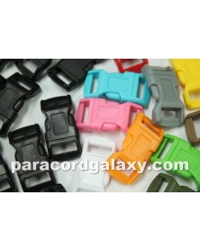 200 PACK - 1/2 IN - 100 RANDOM COLORS + 100 BLACK - Side Release Buckles