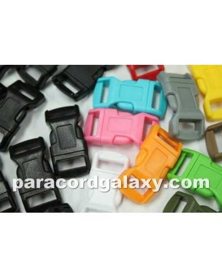 200 PACK - 1/2 IN - 100 MIXED COLORS + 100 BLACK - Side Release Buckles