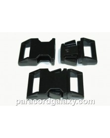 BZ 5/8 IN - BLACK HIGH POLISHED ZINC - Side Release Buckle