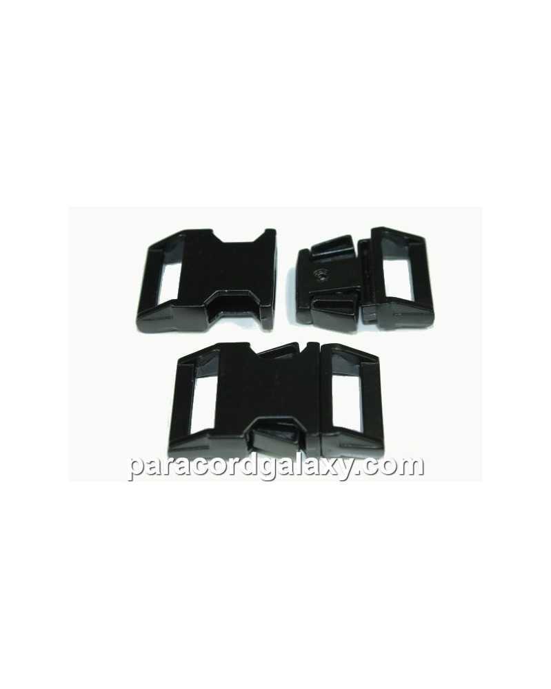 "BZ 5/8"" - BLACK HIGH POLISHED ZINC - Side Release Buckle"