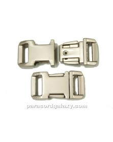 "BZ 1/2"" - HIGH POLISH SATIN PLATED ZINC - Side Release Buckle"