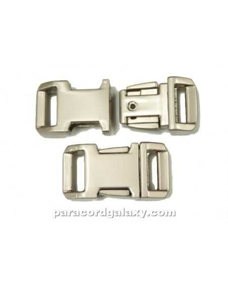 BZ 1/2 IN - HIGH POLISH SATIN PLATED ZINC - Side Release Buckle