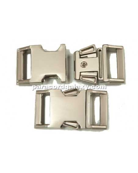 BZ 5/8 IN - HIGH POLISH SATIN PLATED ZINC - Side Release Buckle