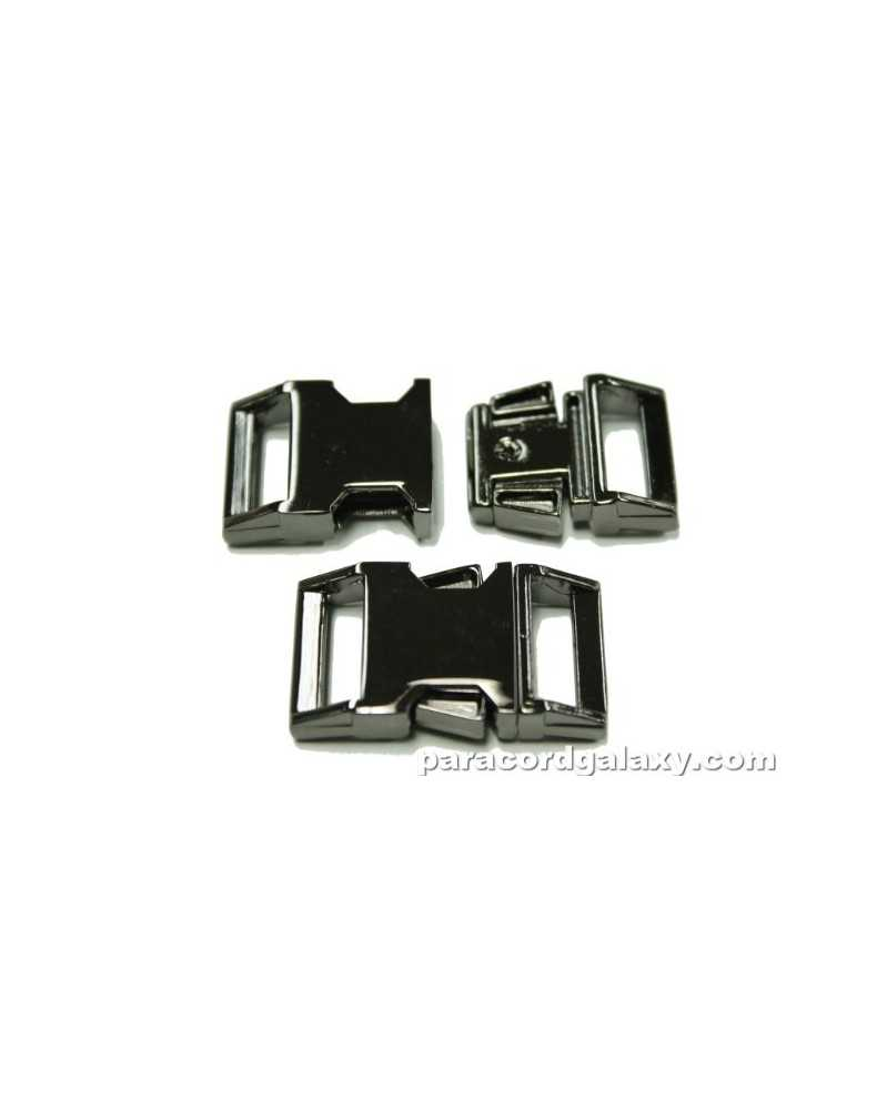 "BZ 5/8"" - MIRROR BLACK ZINC - Side Release Buckle"
