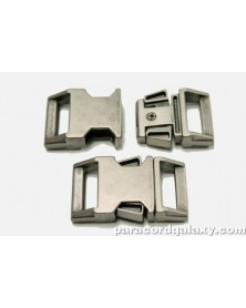 "BZ 5/8"" - GUN METAL ZINC - Side Release Buckle"