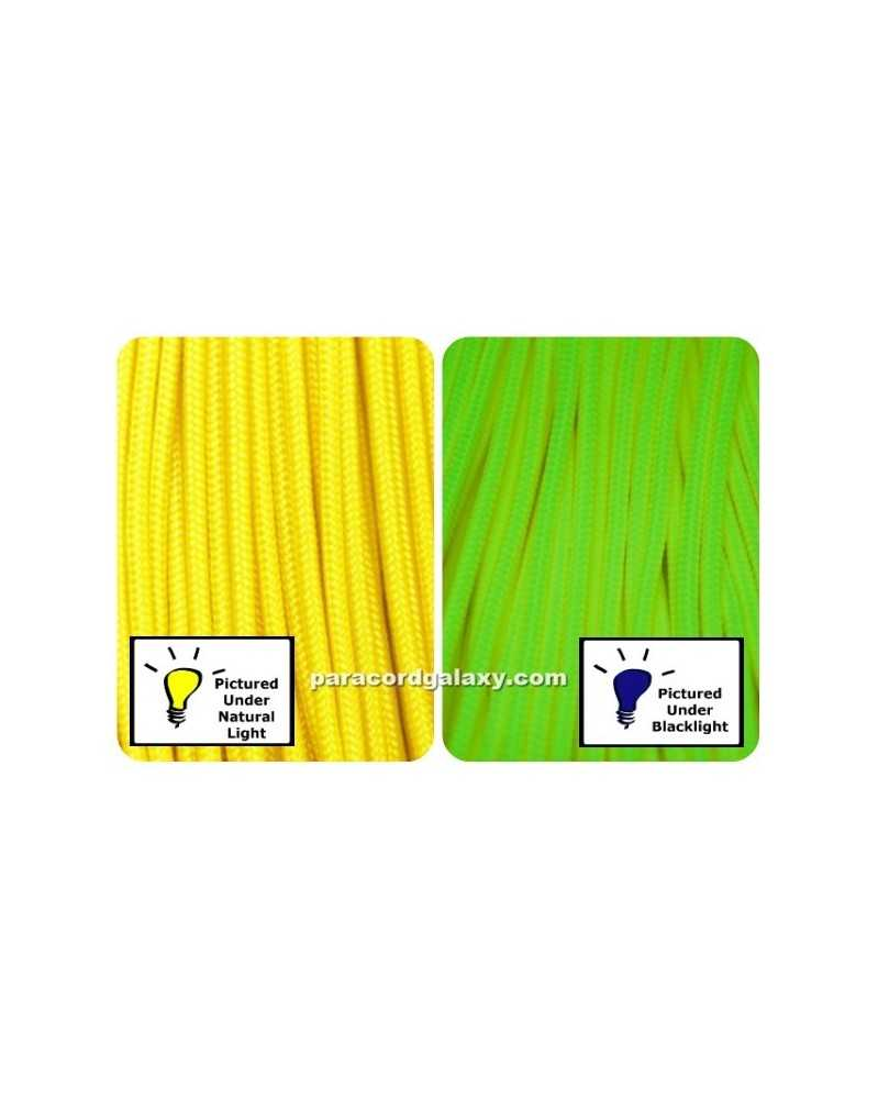275 Tactical Paracord NEON Yellow 100 ft Made in USA