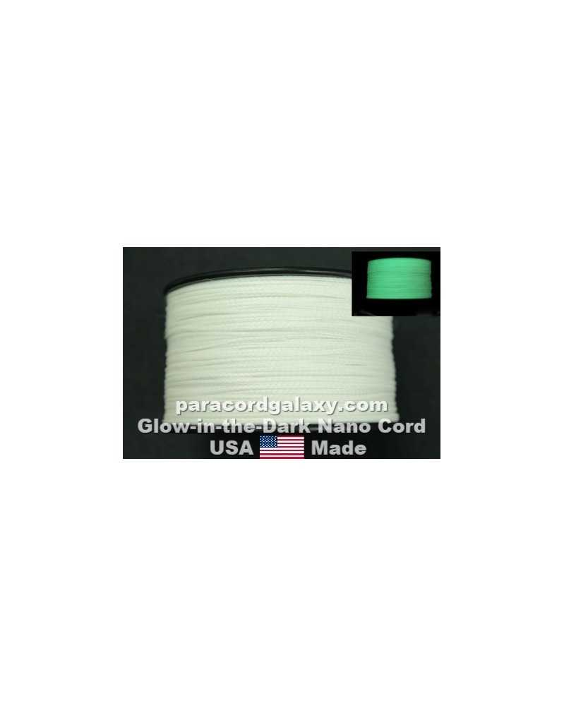 Nano Cord Glow-in-the-Dark White .75mm 300 ft Made in USA