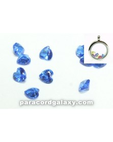 Birthstone Floating Crystal Charms Dark Blue Heart
