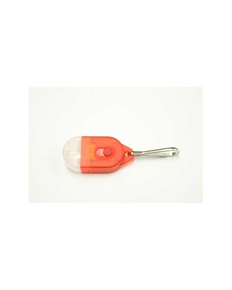 Mini LED Zipper Pull Light for Type 1 & Micro Paracord - Red