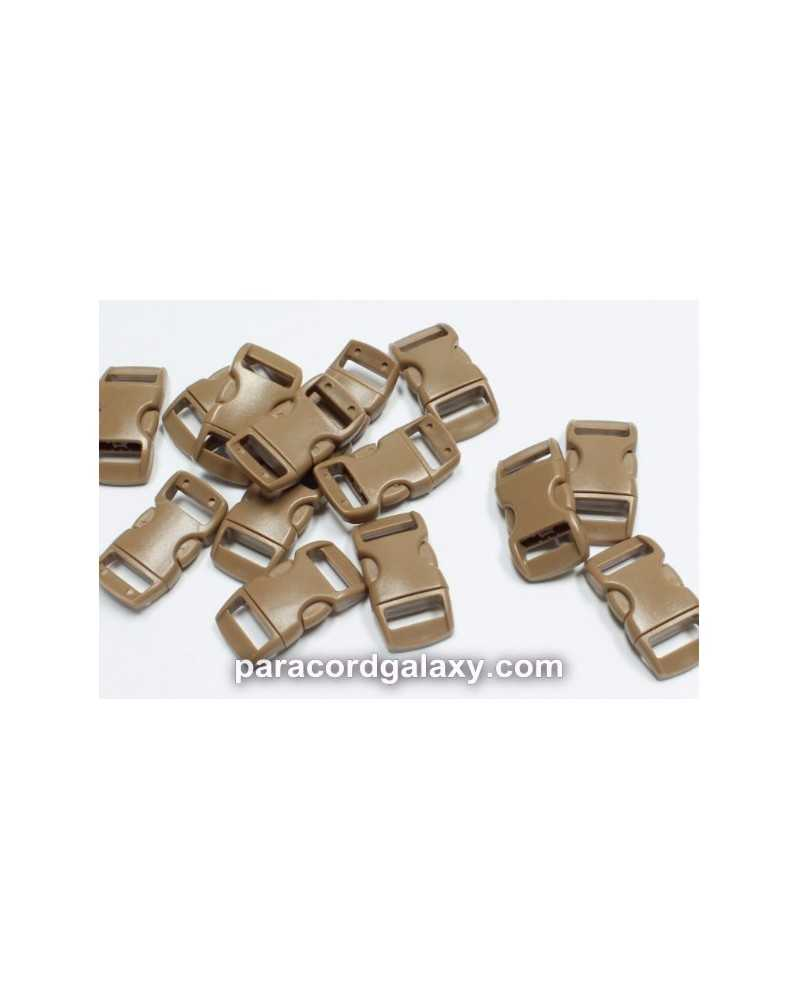 "10 PACK - 3/8"" - BROWN - Side Release Buckles"