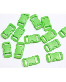 "10 PACK - 3/8"" - NEON GREEN - Side Release Buckles"