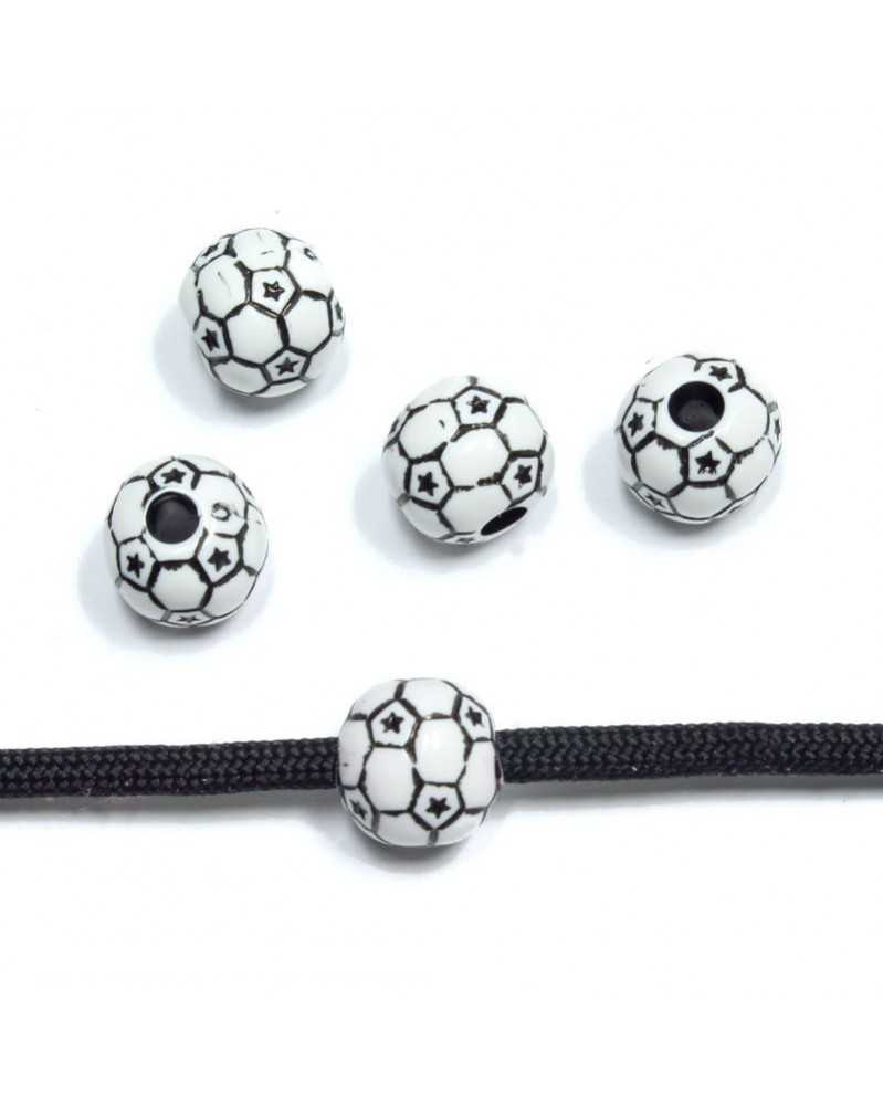10 PACK - Soccer - Acrylic - Bead/Charm for Paracord