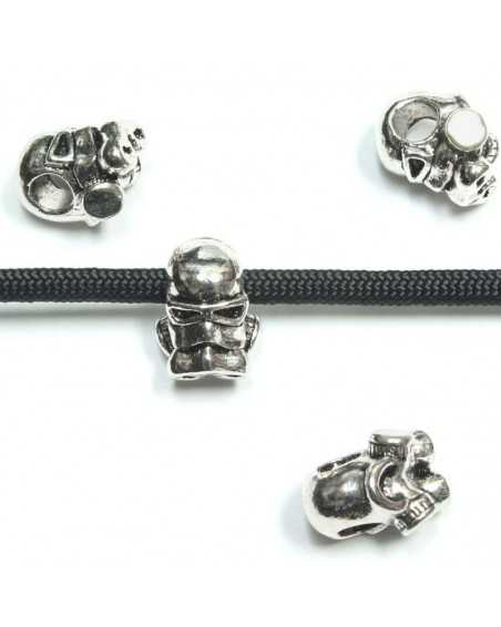 Silver Tone Character Bead
