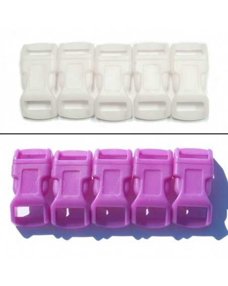 1/2 IN - PURPLE - COLOR CHANGING Side Release Buckles