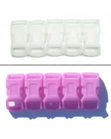1/2 IN - PINK- Color Changing Side Release Buckles