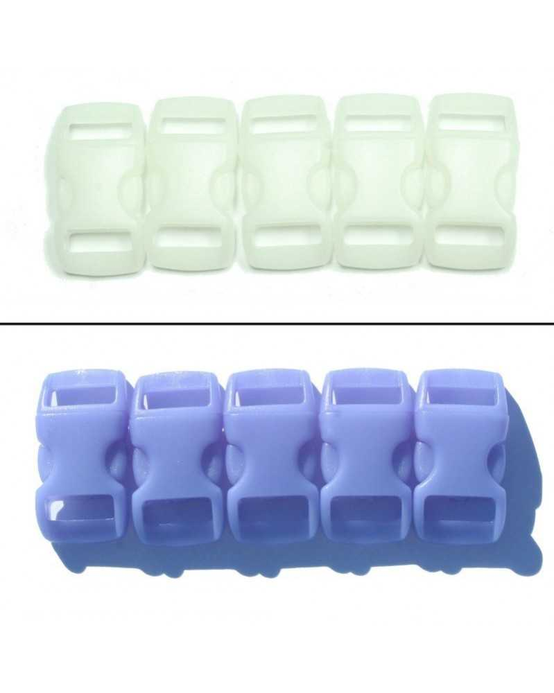 3/8 IN - BLUE - Color Changing Side Release Buckles