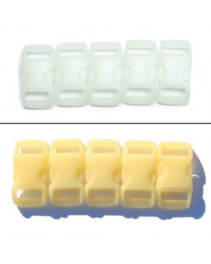 3/8 IN - YELLOW - Color Changing Side Release Buckles