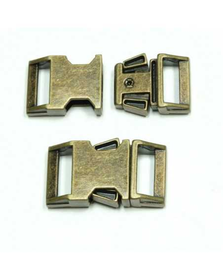 BZ 5/8 IN - ANTIQUED ZINC - Side Release Buckle