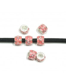 Bead Pink Painted with Jewels