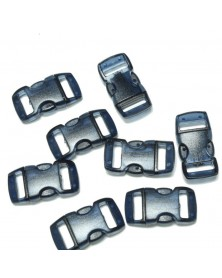 "10 PACK - 3/8"" - Clear Dark BLUE - Side Release Buckles"