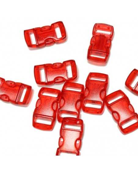 3/8 IN - CLEAR RED - Side Release Buckles