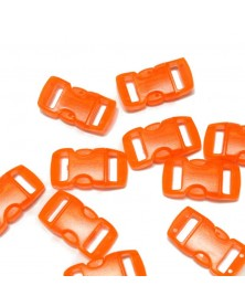 "10 PACK - 3/8"" - CLEAR ORANGE - Side Release Buckles"
