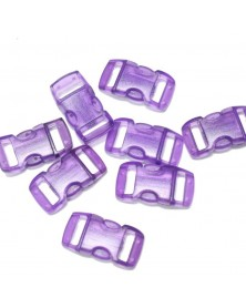 3/8 IN - CLEAR PURPLE - Side Release Buckles