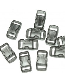 "10 PACK - 3/8"" - CLEAR BLACK - Side Release Buckles"