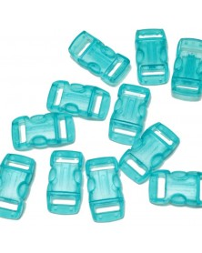 "10 PACK - 3/8"" - CLEAR SKY BLUE - Side Release Buckles"