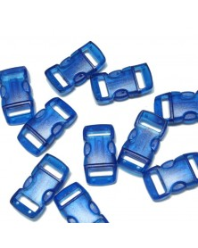 "10 PACK - 3/8"" - CLEAR BLUE - Side Release Buckles"