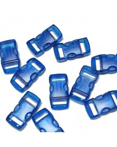 3/8 IN - CLEAR BLUE- Side Release Buckles