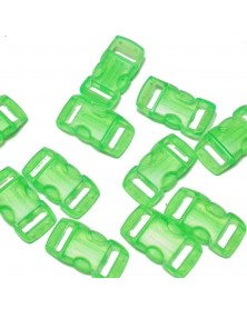 3/8 IN - CLEAR GREEN- Side Release Buckles
