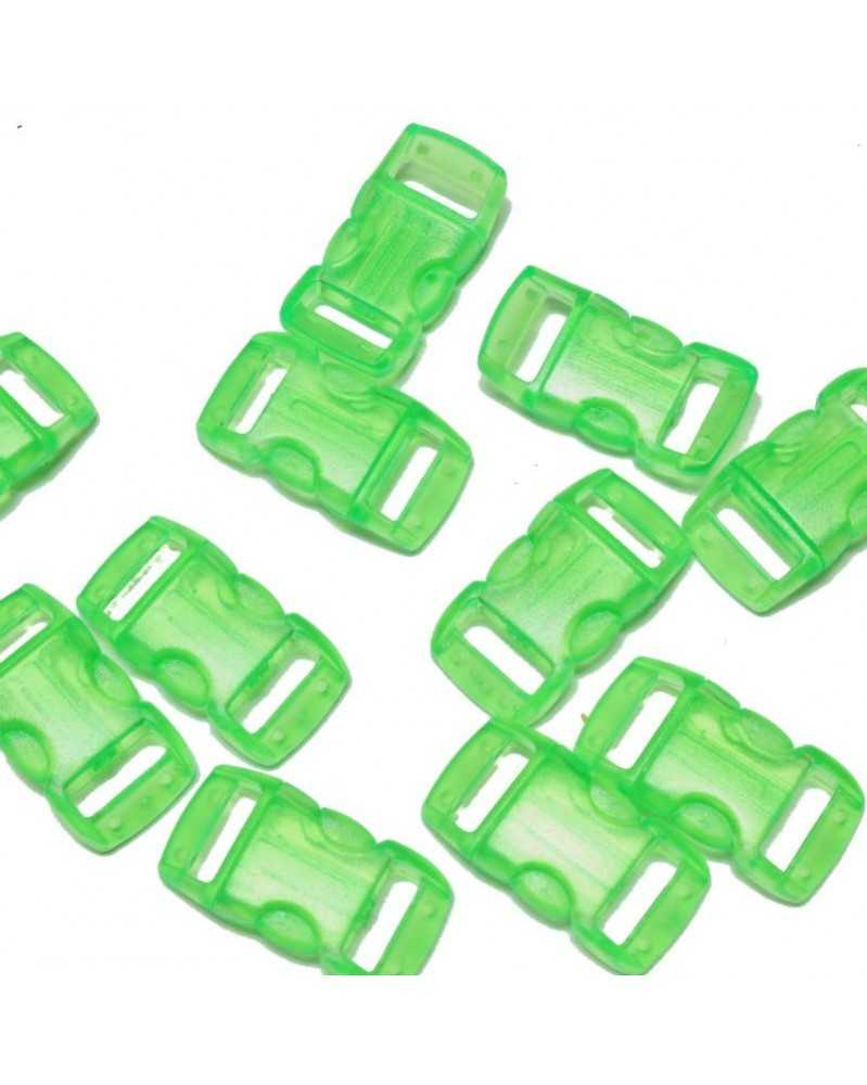 "10 PACK - 3/8"" - CLEAR GREEN - Side Release Buckles"