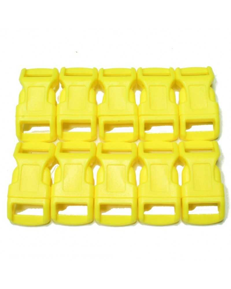 "10 PACK - 1/2"" - YELLOW - Side Release Buckles"