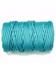 1/8 IN Nylon Utility Cord - Neon Turquoise - USA Made 100 foot