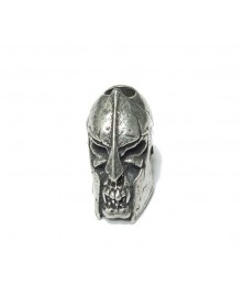 Schmuckatelli Pewter Spartan Skull Bead USA Made