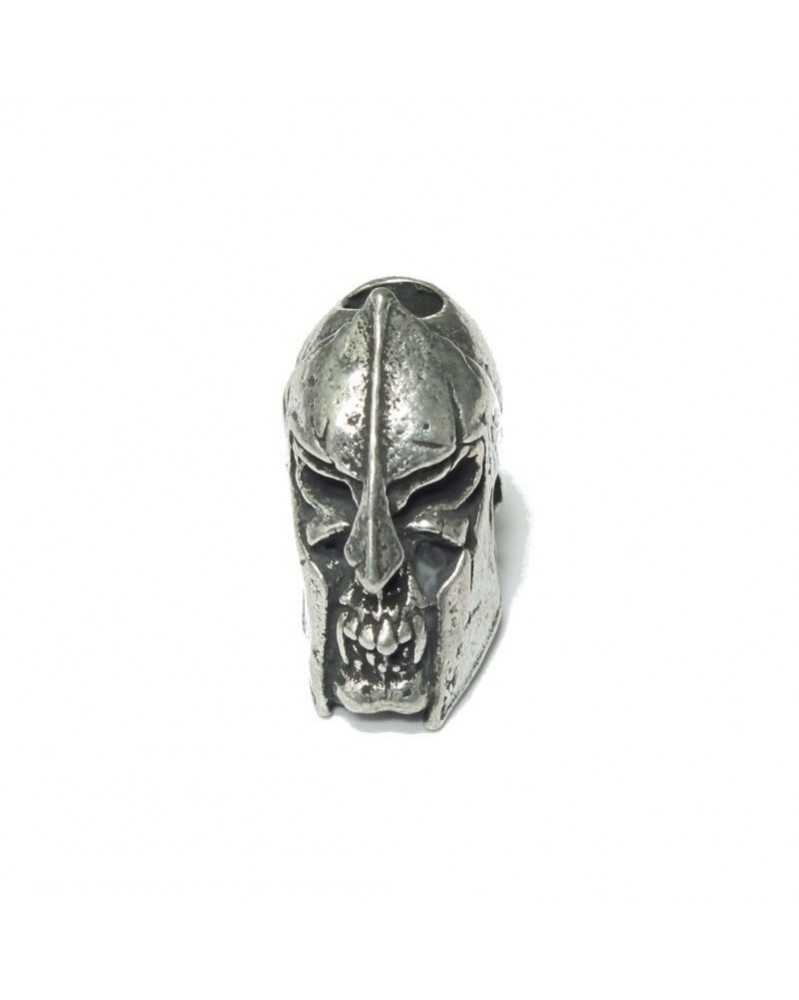Spartan Skull Pewter USA Made Single Bead