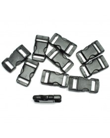 "10 PACK - 3/8"" FLAT Side Release Buckles - Black"