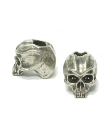 Schmuckatelli Pewter Cyber Skull Bead USA Made