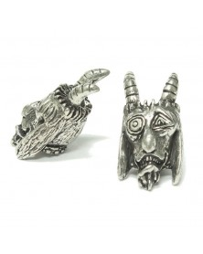 Schmuckatelli Pewter Goat Bead USA Made