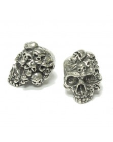 Schmuckatelli Pewter Mind Skull Bead USA Made