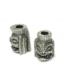 Schmuckatelli Pewter Ku Tiki Bead USA Made