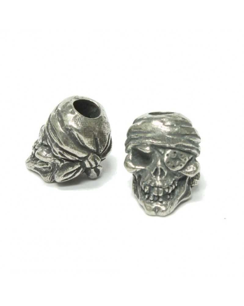 One-Eyed Jack Skull Pewter USA Made Single Bead