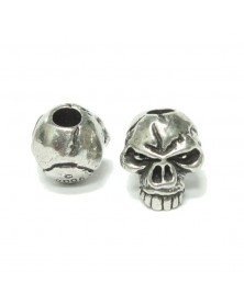 Schmuckatelli Pewter Emerson Skull Bead USA Made