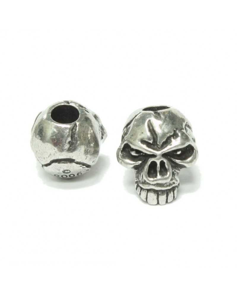 Emerson Skull Pewter Bead USA Made